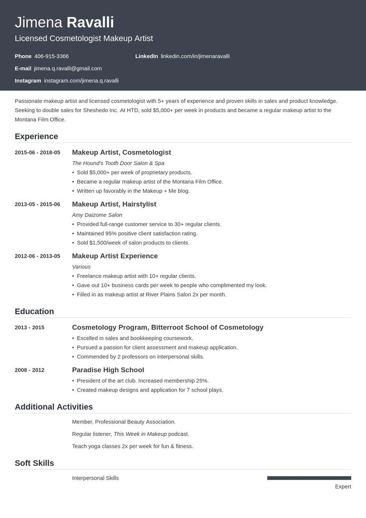 Resume Example With Headshot Photo Cover Letter 1 Page Word Resume Design Diy Cv Example Resume Design Resume Examples Basic Resume Examples