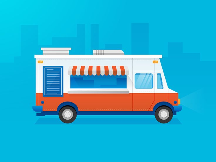 Food truck in the city c mic y ilustraciones for Design food truck online