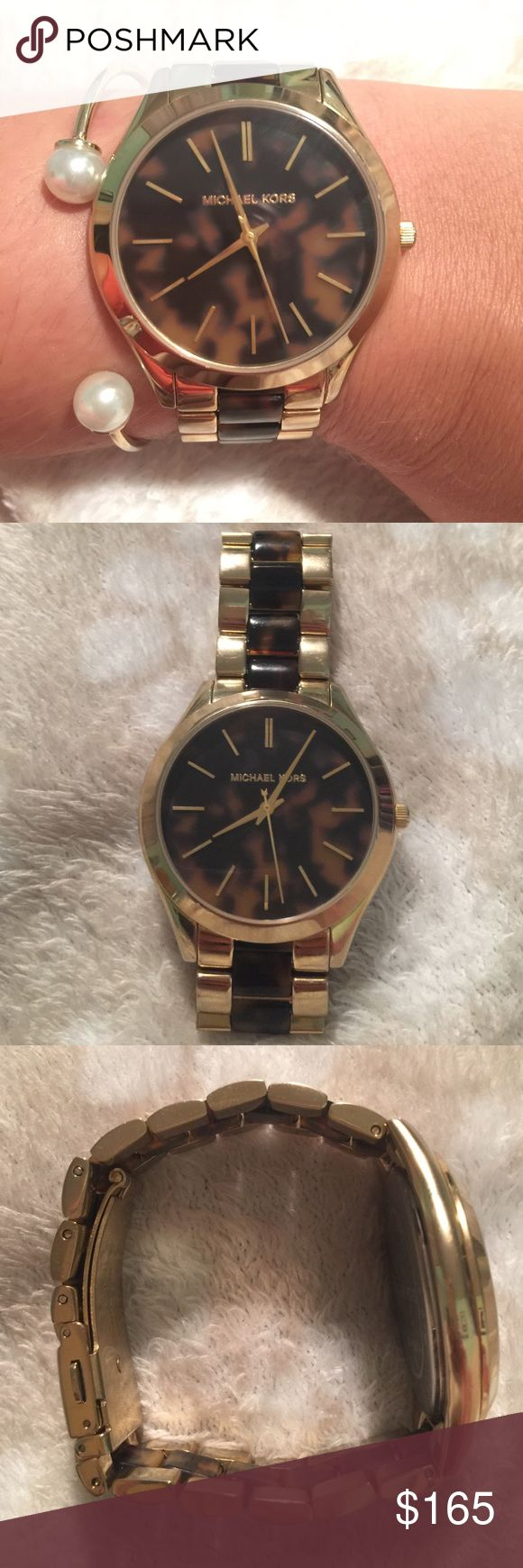 Michael Kors women's watch Michael Kors women's gold watch with tortoise shell. 5 ATM Michael Kors Accessories Watches