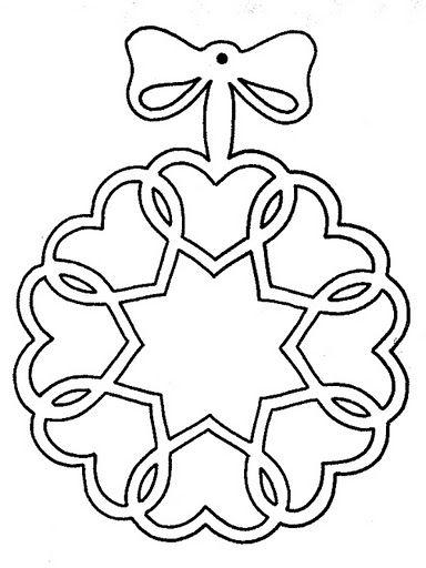 heart wreath cutout image