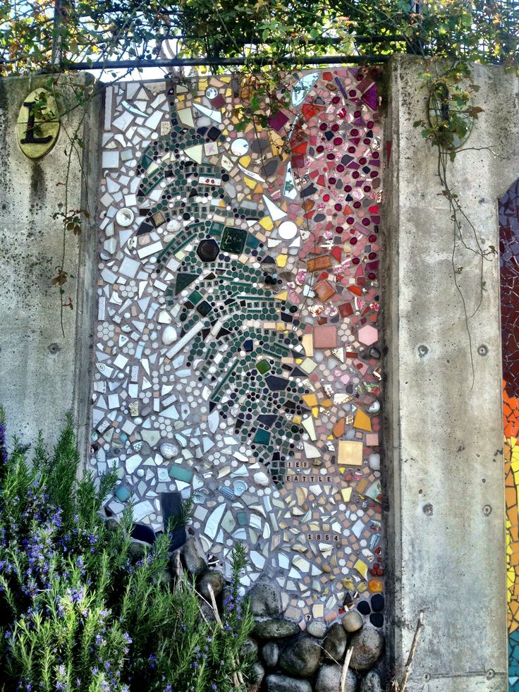 """Bell town P-Patch, Seattle, WA ~ quote in Mosaic:   """"Every part of this soil is sacred... hollowed by some sad or happy event... days long vanished""""  ~  by Cheif Seattle 1854"""
