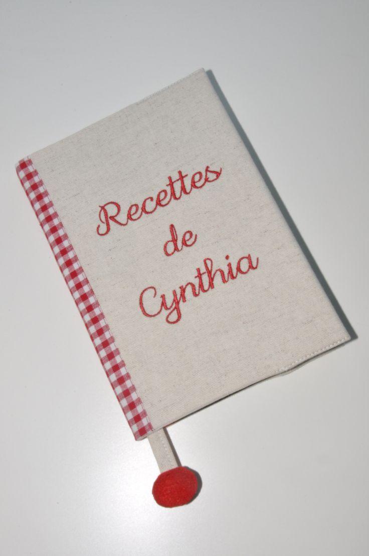 noel carnet de recettes personnalisé brodé au prénom pour cadeaux : Carnets, agendas par lbm-creation
