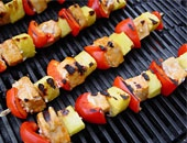 Grilled Smoky Swordfish Kabobs With Pineapple