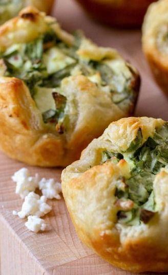Spinach Cheese Puffs Recipe