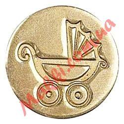 Сургучная печать Manuscript Pram (детская коляска), 1,9см