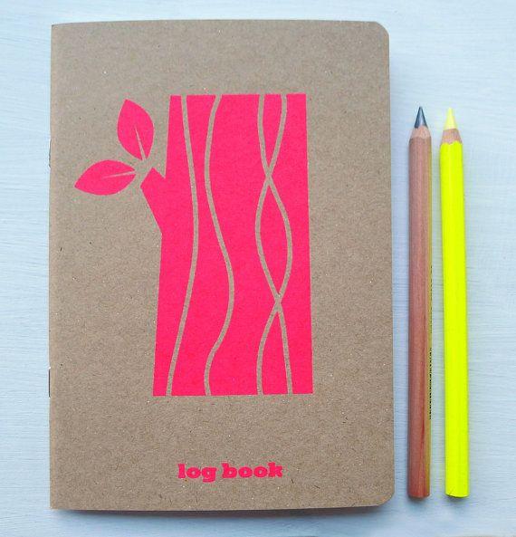 cuaderno de neón logpile por roddyandginger en Etsy