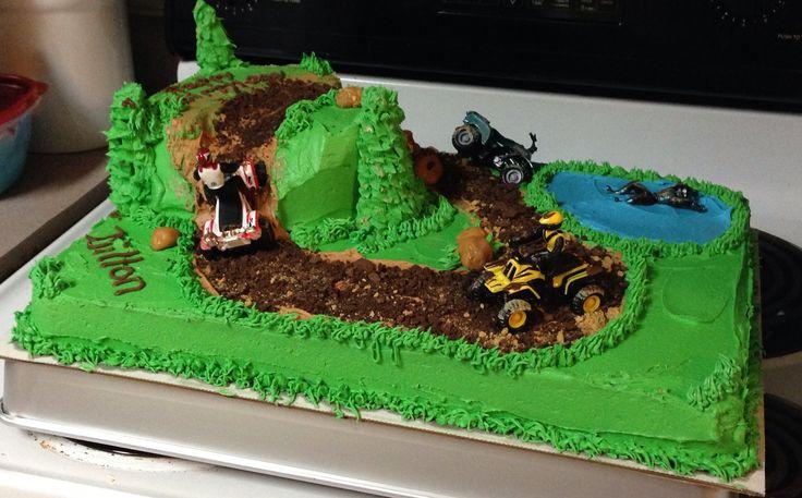 4 wheeler cake (sheet cake & round cake)