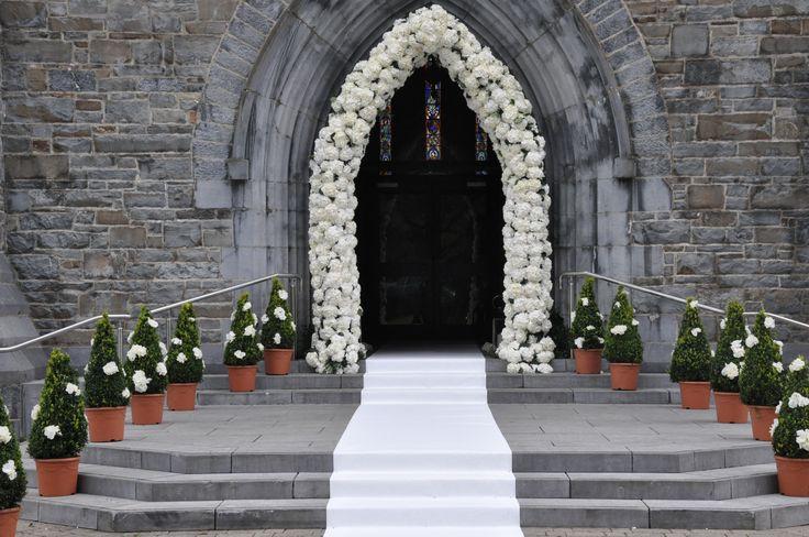 Stunning Wedding Ceremony // Church Decor. Visit www.gotchacovered.ie