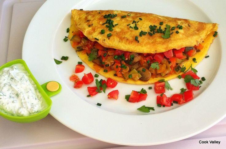 cookvalley - tanker om mad: Morgenmad: Omelet med grønt og krydderurter