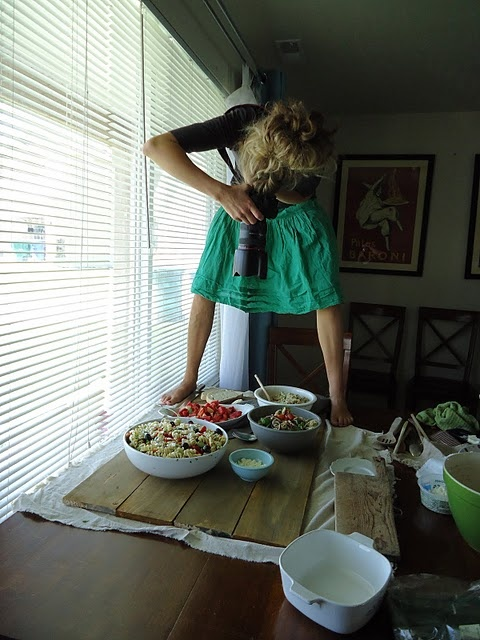 Food photography! for Drew Smith, who thinks it's wrong to stand on a chair above the table to take photographs.