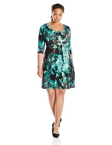 Karen Kane Women's Plus-Size 3/4 Sleeve T Shirt Dress, Print, 2X Karen Kane http://www.amazon.com/dp/B00RDLBMZG/ref=cm_sw_r_pi_dp_3my8vb09BQP7J