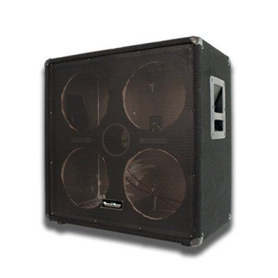 "Seismic Audio - 4x10 EMPTY Bass Guitar Speaker Cabinet - Band Pro Audio 410 by Seismic Audio. $164.99. 4x10 Empty Bass Guitar Cabinet - No WoofersModel #: SA-410 EmptyWoofer: No Woofers included5/8"" plywood front panelBlack carpet with black metal cornersRecessed HandleFull Metal GrillTerminal cup with two 1/4"" inputsPortedHxWxD: 25""x26""x15""Condition: NewOne Year WarrantyThe Empty 4x10 Bass Guitar Speaker Cabinet is great for putting in speakers of your choice! With t..."