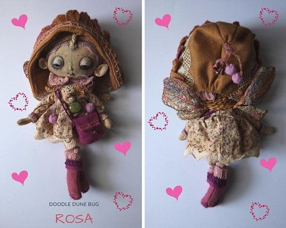 Rosa a one of a kind little sand doodle dune bug