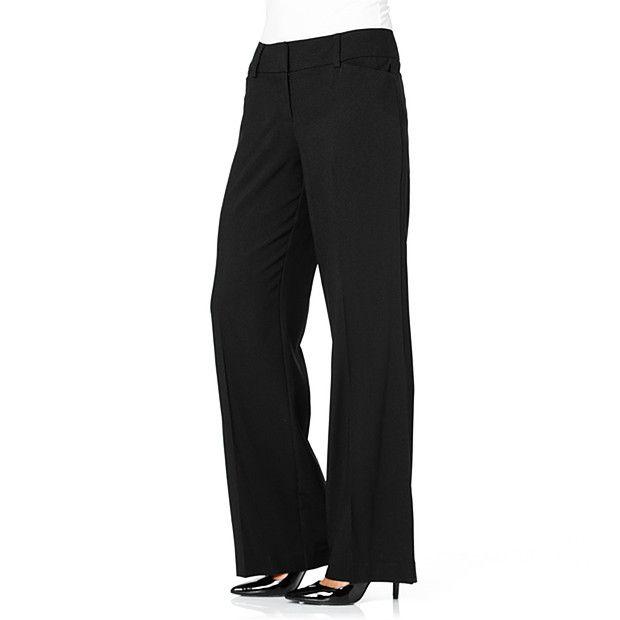 City Dressing Wide Leg Pants - Black