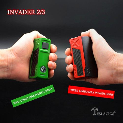 eslacigs Invader 2/3 2pcs 18650 battery to 240w, 3pcs 18650 battery to 360w. Powerful Chip, nice touching, Competitive Price, welcome to wholesale  Skype: sales07vapethink Whatsapp: +86 18566256210