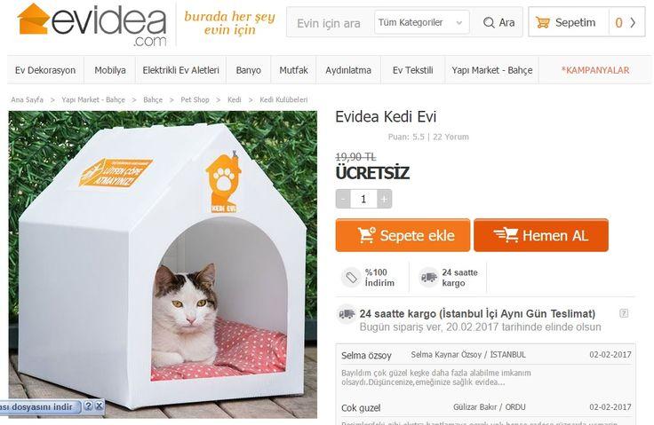 Evidea Ücretsiz Kedi Evi Sosyal Sorumluluk Projesi - http://www.aligultekin.com.tr/evidea-ucretsiz-kedi-evi-sosyal-sorumluluk-projesi