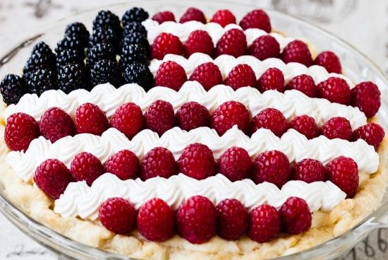 Show Your Patriotism With This Flag Pie - Foodista.com ~ redwhitebgosh