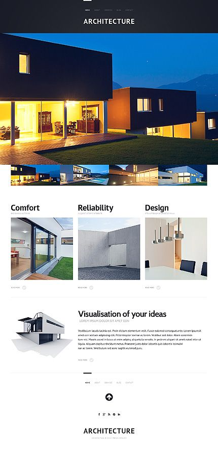 46 best responsive parallax themes images on pinterest for Architectural websites
