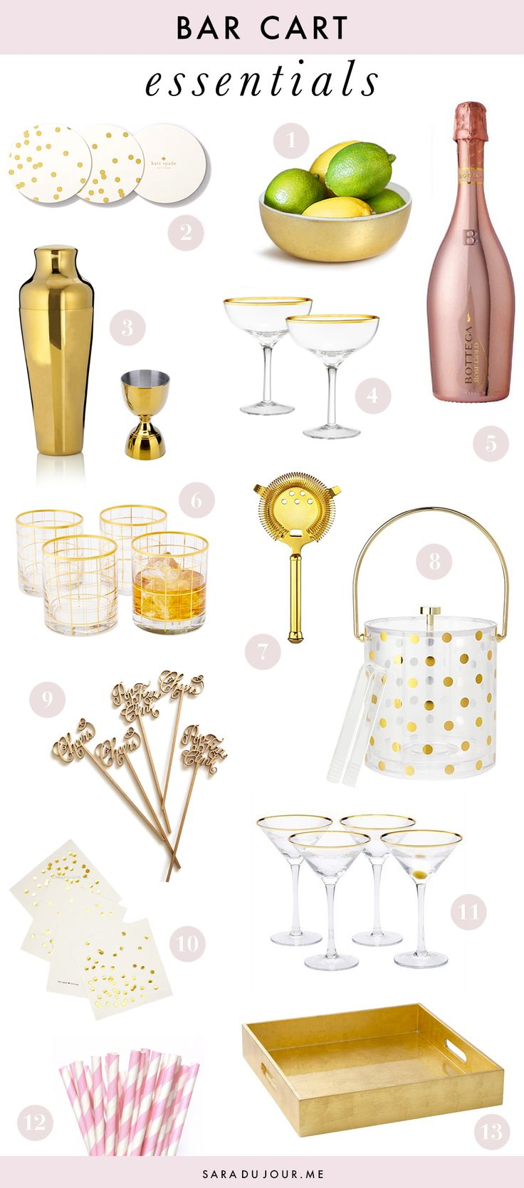 Bar Cart Essentials { Home Bar Haul } U2022 Sara Du Jour