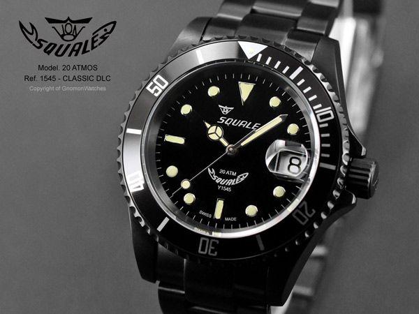 Squale 20 ATMOS Classic DLC - 1545 - SEL Bracelet