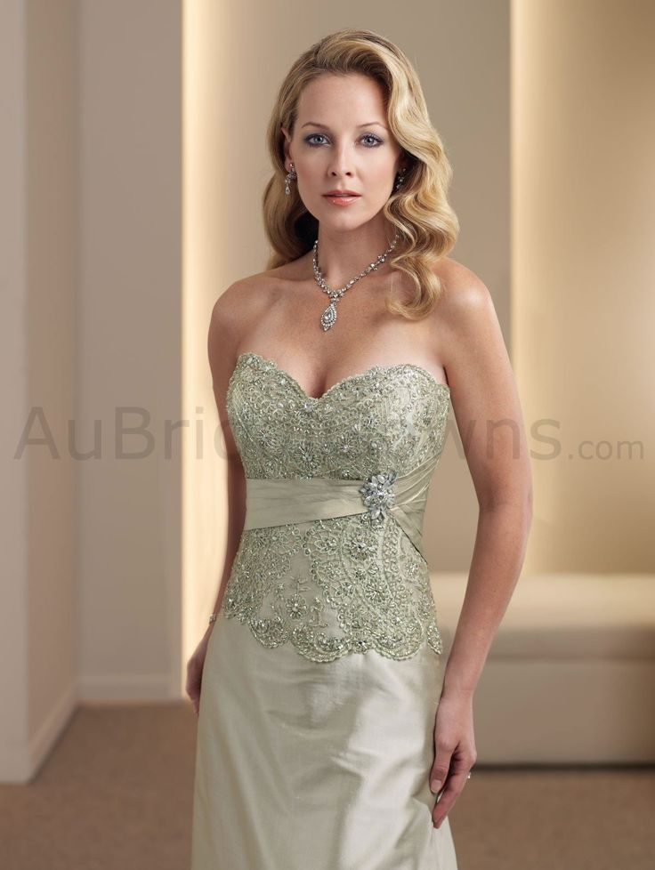 Silk Shantung Strapless Sweetheart Hand-beaded Lace Bodice ...