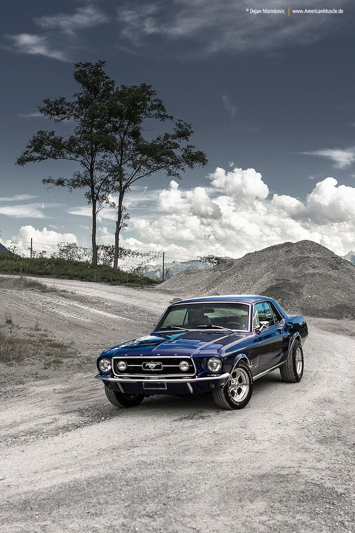 Blue mustang coupe iv by americanmuscle deviantart com on deviantart