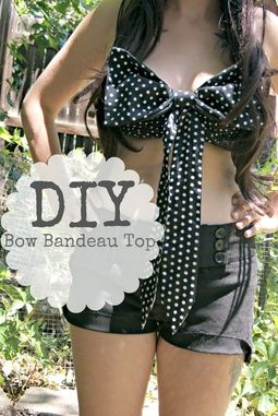 DIY Clothes ! Love it!! This would be so cute as a teen girl swimsuit
