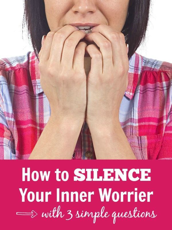 How to SILENCE your inner worrier with 3 simple questions. A quick guide for how to stop worrying—finally!