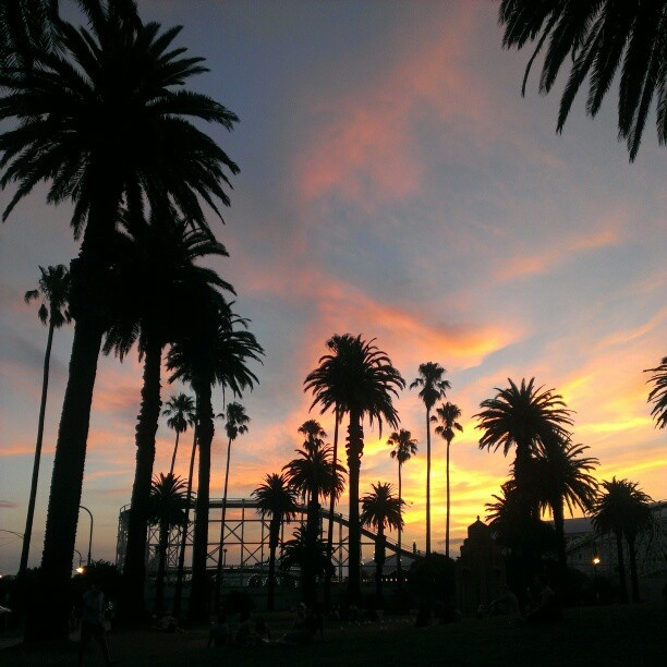 I really have a love hate relationship with my town. Sunsets in St Kilda especially in summer are the best