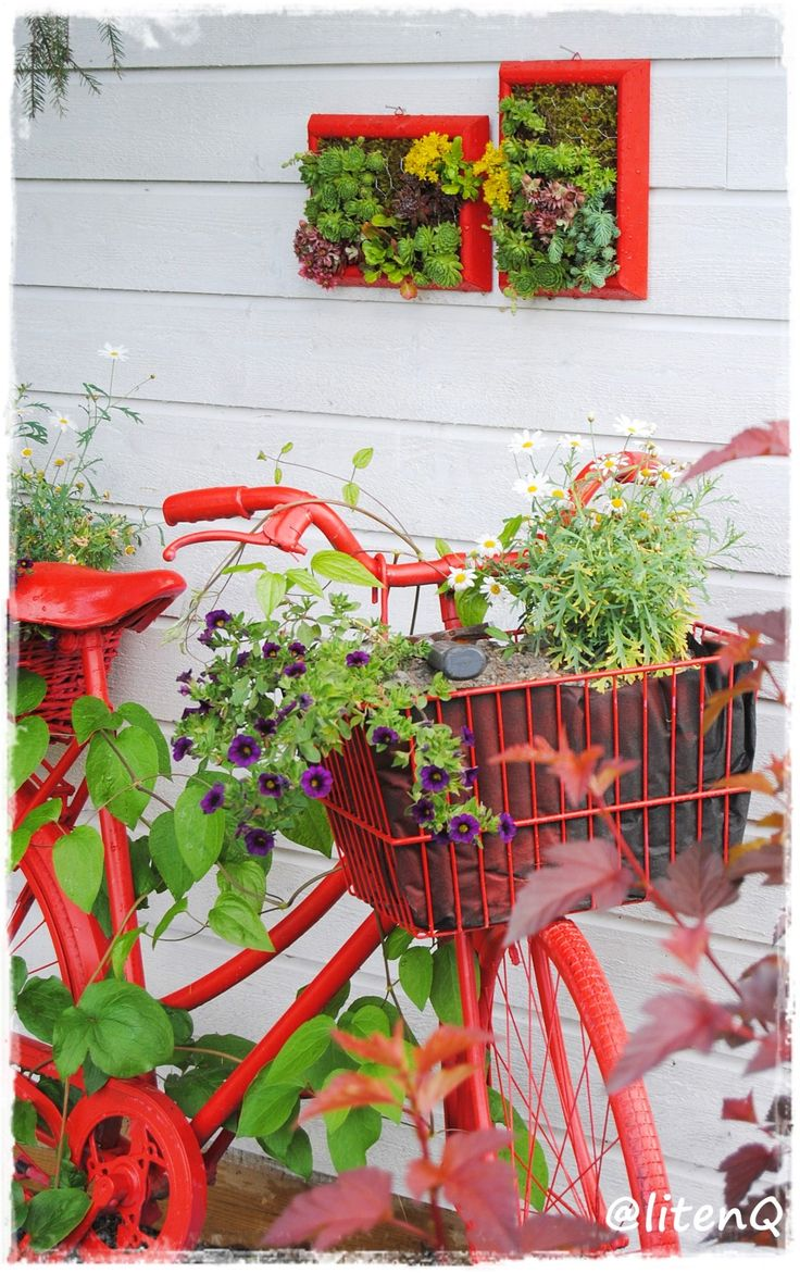 Gjenbruk og spraymaling i hagen