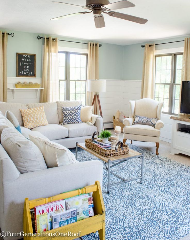 Cottage Family Room Ideas Part - 50: Family Room Summer Makeover