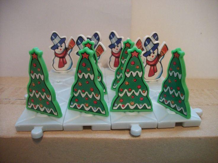 1999 макси Kinder Surprise игрушечный-рождественской елки и Снеговик игры