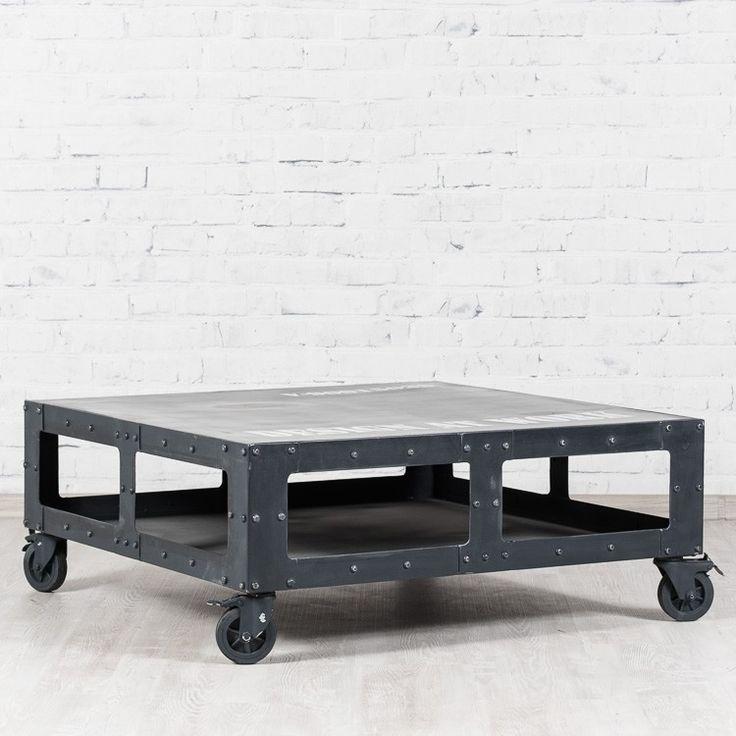 Журнальный металлический столик Grey