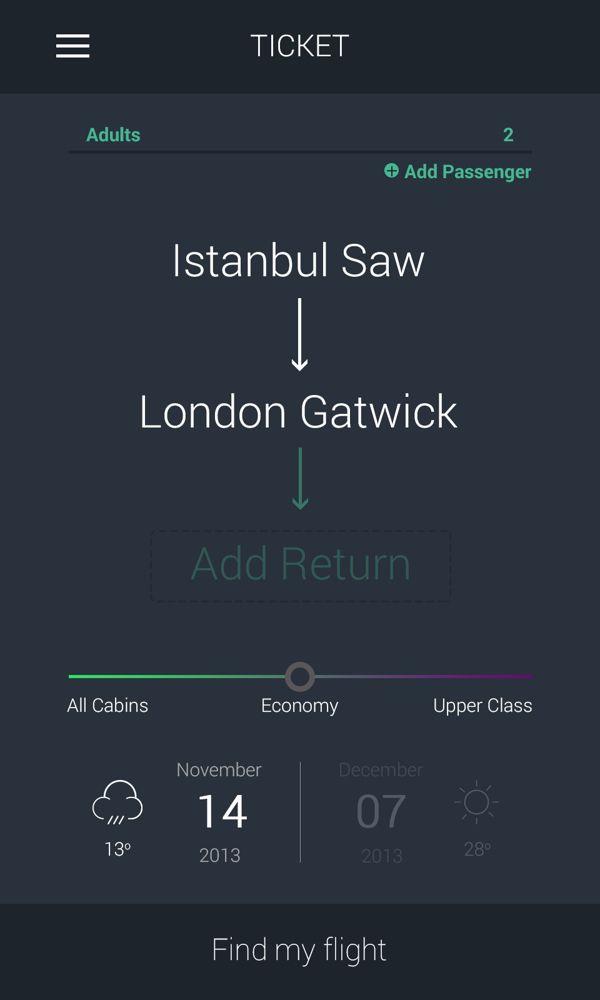 Find my flight by Emre KILIÇ |  #appdesign #interface #design