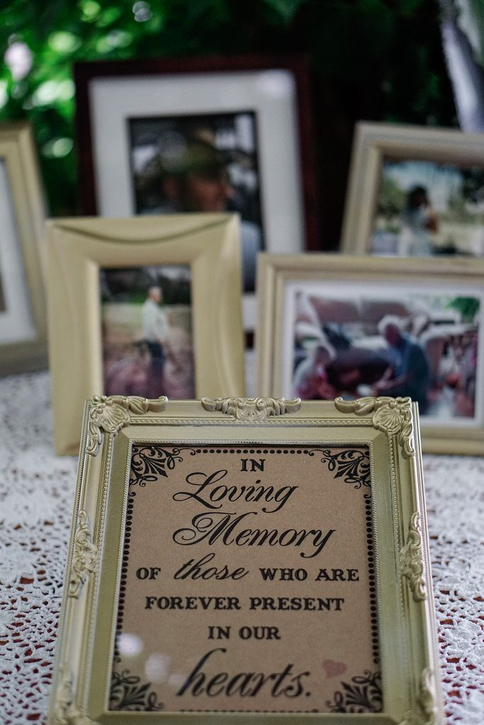 In Loving memory of those who are forever in our hearts... wedding memorial