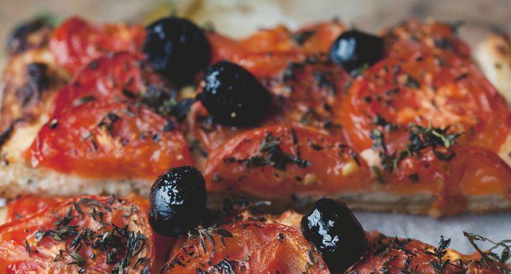 Ottolenghi's tomaten-amandeltaart uit Plenty More