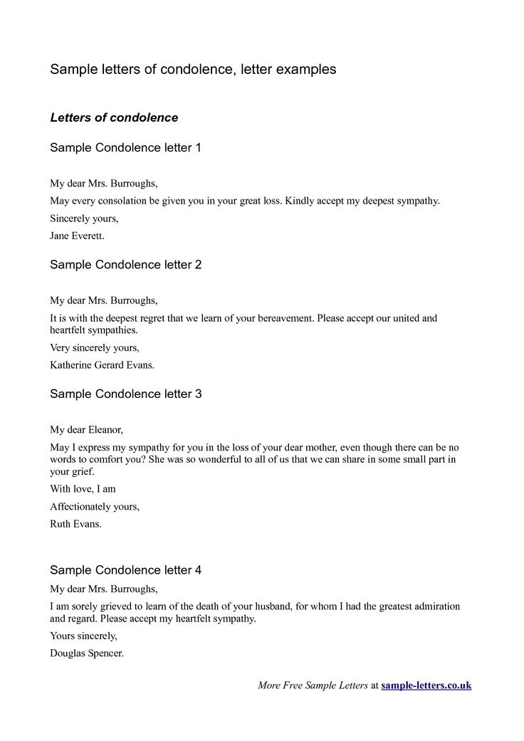 The 25 best Sympathy letter ideas – Sample of Sympathy Letter