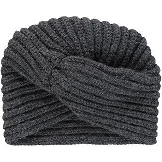 Rosie Sugden Charcoal Cashmere Knitted Turban