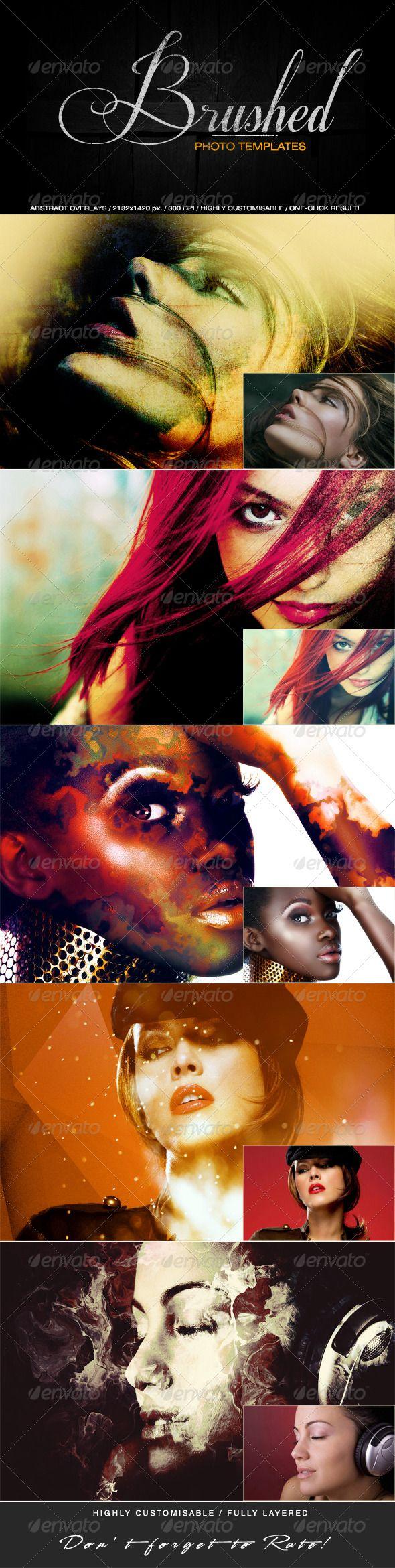 Brushed Photo Templates