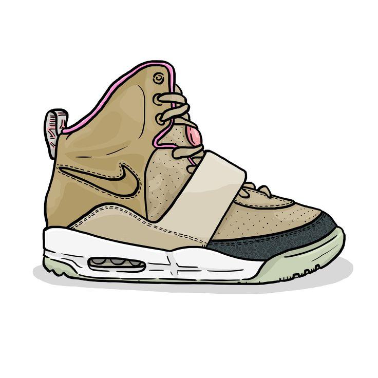 Nike Air Yeezy (Net, Net) 2009 illustration  #daleillustration sneaker art