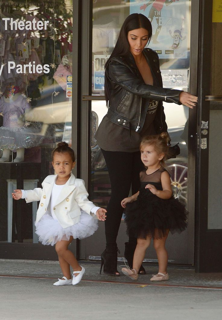Kim Kardashian West, North West, and Penelope Disick spotted out and about.