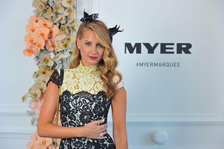 Laura Dundovic at Emirates Stakes Day Myer Marquee 2014