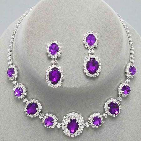 Violet diamante necklace set only £15.99 from WWW.GlitzyGlamour.co.uk (available in other colours)