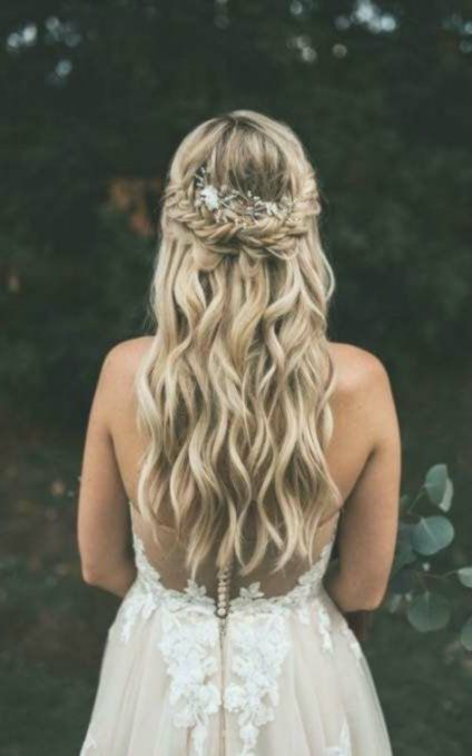 Wedding Hairstyles Wavy Half Up Brides 40 Ideas For 2019 - #brides #hairstyles #... - #brides #hairstyles #ideas