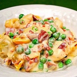 Tortellini Alfredo: The secret's all in the sauce...