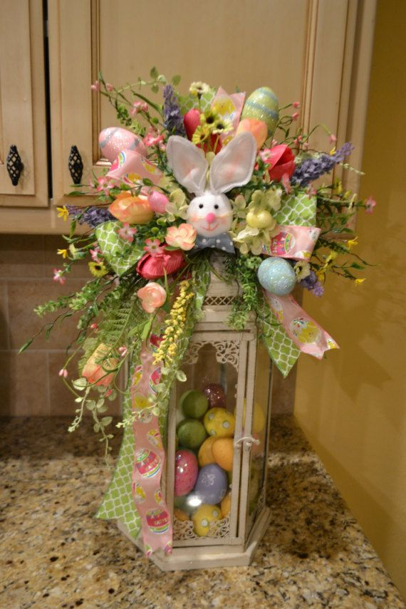 Easter Bunny Lantern Swag with Eggs by kristenscreations on Etsy