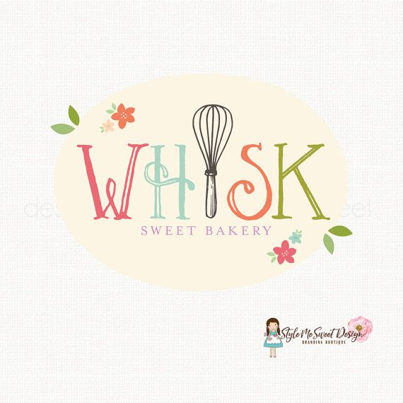 whisk logo design bakery logo design bakers by stylemesweetdesign