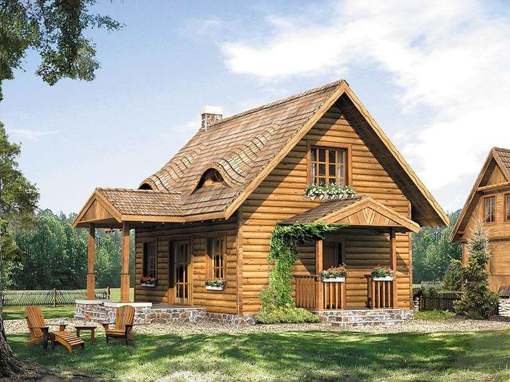 Mały dom mieszkalny, jednorodzinny z powodzeniem może służyć jako całoroczny dom rekreacyjny,