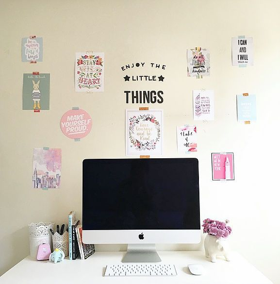 Pared inspiradora para tu escritorio DIY: diyemprende.com