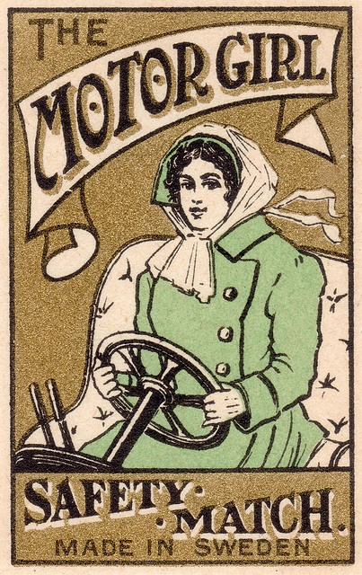 #vintage #matches #matchbook The Motor Girl |repinned by www.amgdesign.nz